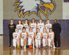 Issaquah Eagles Girls Varsity Basketball Winter 17-18 team photo.