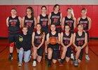 Orting Cardinals Girls Varsity Basketball Winter 17-18 team photo.