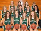North Star Cougars Girls Varsity Basketball Winter 17-18 team photo.