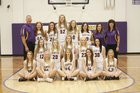Hampton Hawks Girls Varsity Basketball Winter 17-18 team photo.