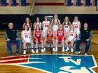 Tri-Village Patriots Girls Varsity Basketball Winter 17-18 team photo.