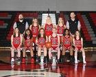 Fox Creek Predators Girls Varsity Basketball Winter 17-18 team photo.