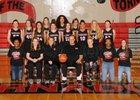 Yelm Tornados Girls Varsity Basketball Winter 17-18 team photo.