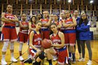 Wilbraham & Monson Academy Titans Girls Varsity Basketball Winter 17-18 team photo.
