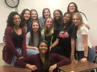 Anderson Trojans Girls Varsity Basketball Winter 17-18 team photo.
