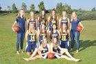 Crean Lutheran Saints Girls Varsity Basketball Winter 17-18 team photo.