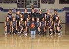 Manzano Monarchs Girls Varsity Basketball Winter 17-18 team photo.