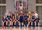 Calvary Christian Warriors Girls Varsity Basketball Winter 17-18 team photo.