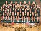 Greene County Tech Golden Eagles Girls Varsity Basketball Winter 17-18 team photo.