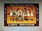 Baker Gators Girls Varsity Basketball Winter 17-18 team photo.