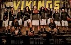 Kingsburg Vikings Girls Varsity Basketball Winter 17-18 team photo.