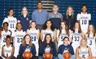 Plainfield South Cougars Girls Varsity Basketball Winter 17-18 team photo.