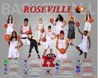 Roseville Panthers Girls Varsity Basketball Winter 17-18 team photo.