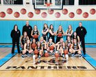 Penn Cambria Panthers Girls Varsity Basketball Winter 17-18 team photo.