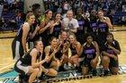 E.A. Laney Buccaneers Girls Varsity Basketball Winter 17-18 team photo.