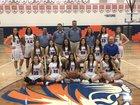 Los Lunas Tigers Girls Varsity Basketball Winter 17-18 team photo.