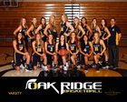 Oak Ridge Trojans Girls Varsity Basketball Winter 17-18 team photo.