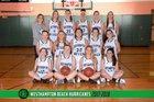 Westhampton Beach Hurricanes Girls Varsity Basketball Winter 17-18 team photo.