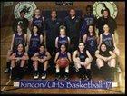 Rincon/University Rangers Girls Varsity Basketball Winter 17-18 team photo.