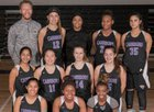 Carrboro Jaguars Girls Varsity Basketball Winter 17-18 team photo.