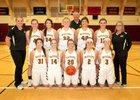 Cle Elum-Roslyn Warriors Girls Varsity Basketball Winter 17-18 team photo.