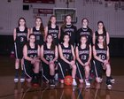 Cedarcrest Red Wolves Girls Varsity Basketball Winter 17-18 team photo.