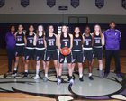 Foster Bulldogs Girls Varsity Basketball Winter 17-18 team photo.