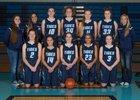 Gig Harbor Tides Girls Varsity Basketball Winter 17-18 team photo.