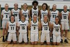 Fayetteville-Manlius Hornets Girls Varsity Basketball Winter 17-18 team photo.