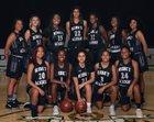 Ribet Academy Fighting Frogs Girls Varsity Basketball Winter 17-18 team photo.