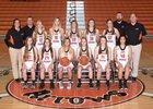 Ashland Arrows Girls Varsity Basketball Winter 17-18 team photo.