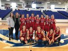 Vilonia Eagles Girls Varsity Basketball Winter 17-18 team photo.