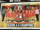 Marion County Eagles Girls Varsity Basketball Winter 17-18 team photo.