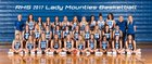 Rogers Mountaineers Girls Varsity Basketball Winter 17-18 team photo.