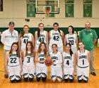 St. Brendan Sabres Girls Varsity Basketball Winter 17-18 team photo.