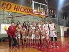 Munster Mustangs Girls Varsity Basketball Winter 17-18 team photo.
