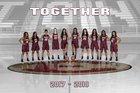 Ennis Lions Girls Varsity Basketball Winter 17-18 team photo.
