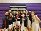 Canyon Crest Academy Ravens Girls Varsity Basketball Winter 17-18 team photo.