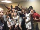 Oxbridge Academy ThunderWolves Girls Varsity Basketball Winter 17-18 team photo.