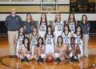 Galena Park Yellowjackets Girls Varsity Basketball Winter 17-18 team photo.