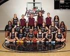 Hamilton Huskies Girls Varsity Basketball Winter 17-18 team photo.