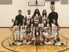 Cupertino Pioneers Girls Varsity Basketball Winter 17-18 team photo.
