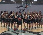 Gulf Coast Sharks Girls Varsity Basketball Winter 17-18 team photo.