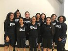 Northridge Academy Pumas Girls Varsity Basketball Winter 17-18 team photo.