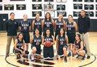 Bishop Ward Cyclones Girls Varsity Basketball Winter 17-18 team photo.