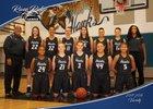 River Ridge Hawks Girls Varsity Basketball Winter 17-18 team photo.