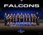 Faulkner County HomeSchool Falcons Girls Varsity Basketball Winter 17-18 team photo.
