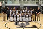 Upson-Lee Knights Girls Varsity Basketball Winter 17-18 team photo.