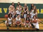 Live Oak Acorns Girls Varsity Basketball Winter 17-18 team photo.