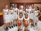 Nogales Apaches Girls Varsity Basketball Winter 17-18 team photo.